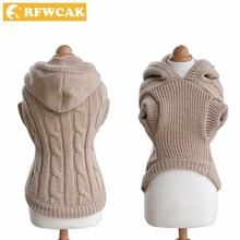 RFWCAK Pet Cat Winter Clothes Sweater Warm Wind Retro Colors Fashion Warm Kitty Puppy Sweaters Cat Clothes(China)