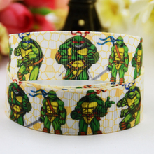 7/8'' (22mm) Teenage Mutant Ninja Turtles Cartoon Character printed Grosgrain Ribbon party decoration OEM 10 Yards X-00826(China)