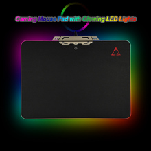 LED Light Mouse Pad Hard Gaming Mouse Mice Pad USB Wired Computer Notebook Mice Mat with Anti-slip Rubber 35*25cm Gamer Mousepad