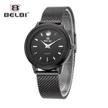 TOP BELBI Luxury Women's Watches Fashion Ladies Steel Strap Wristwatches Quartz Movement China Brand Watch 2017 Relogio Feminino(China)