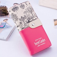 Fashion Brand Women Wallets PU Leather Card Holder Long Lady Wallet Purse Clutch Hasp Wallet Phone Pocket Purse Wallet Carteira