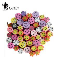 50PCS/lot 3D Nail Art Fimo Canes Rods Sticks Decoration Fruit Flower Butterfly Animal for UV Gel Nail Art Decorations 5mm(China)