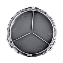 4PCS Car Styling 75mm 3D Stickers Wheel Center Hub Cap Cover For Mercedes Benz W211 W203 W204 W124 W210 W220 W201 ///AMG logo