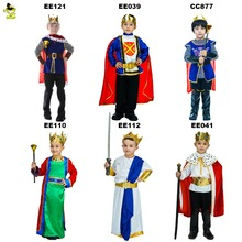 Hot Sales Children King Costumes Halloween Carnival Party Noble Prince Role Play Outfits Boys Leader of Kingdom Cosplay Clothing(China)