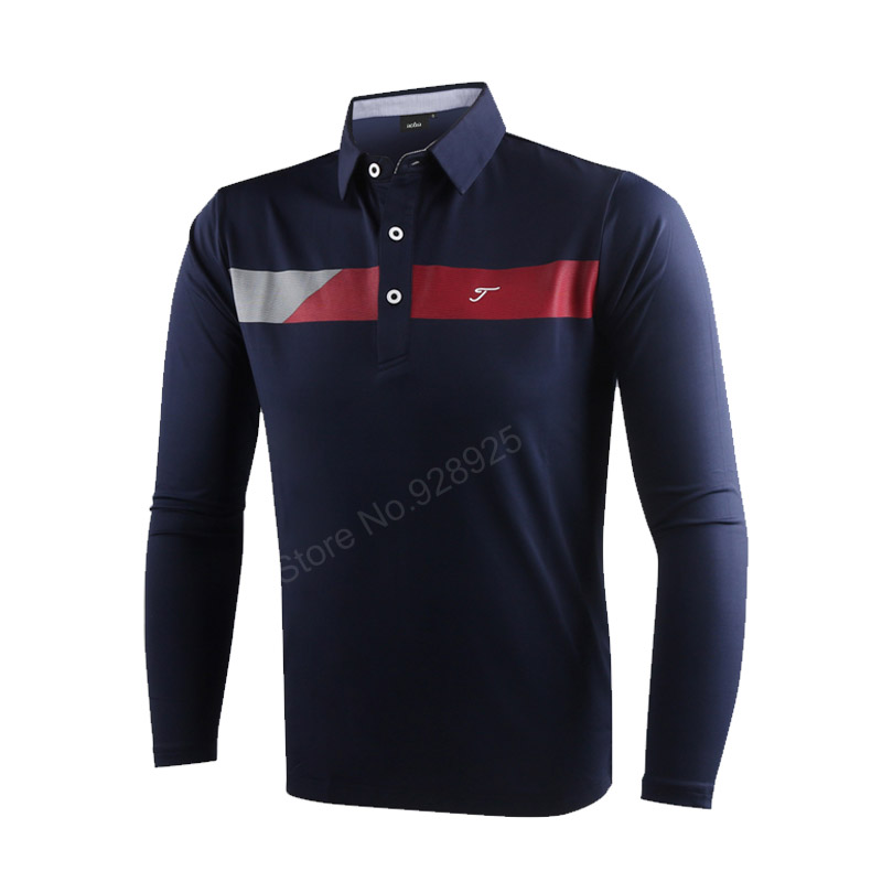 new autumn men golf shirts long-sleeve training garment sports jersey striped shirts polo tops golf wear brand shirt white red <br>