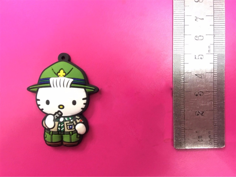 G498 Hello Kitty Original Japanese anime figure rubber Silicone sweet smell mobile phone charms keychain strap