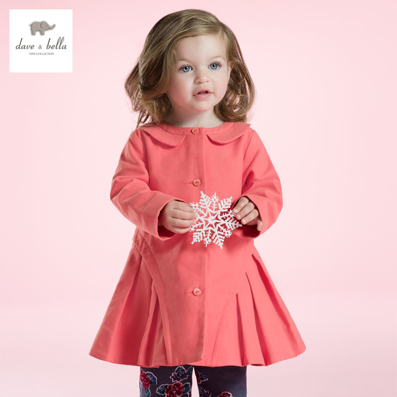 DB2801 dave bella spring  baby girl lovely dress infant clothes girls party dress baby birthday dress girls princess dress<br>