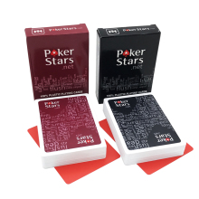New Hot 2 Sets/Lot Texas Holdem Plastic playing card game poker cards Waterproof and dull polish poker star Board games qenueson(China)