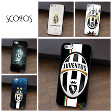 SCOZOS Football Soccer Team Juventus cell phone case for iphone X 4 4s 5 5s 5c SE 6 6s 6 plus 6s plus 7 7 plus 8 8 plus #qz134(China)
