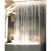 180X180cm Bathroom Waterproof Fabric EVA Curtains 3D Water Cube Design Water Resistance Bathing Shower Curtain Simple Chic Style(China)