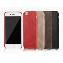 Retro Slim Soft PU Leather Case for iphone 7 6 6S Plus Vintage Business Style back Cover For iphone 6 6S 7 Black Brown Red