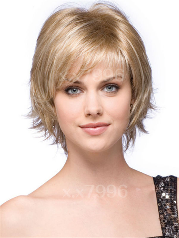 sexy ladies short straight natural blonde hair cosplay costume party womens wigs + free wig cap sw0118-js<br><br>Aliexpress