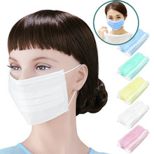 3-Ply Earloop 50pcs Medical Face Mouth Masks Dental Nail Health Disposable Anti-Dust urgical Medical Earloop Face Mask