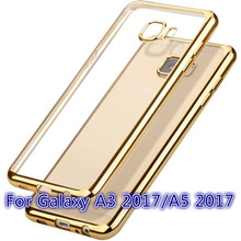 Original Case for Samsung Galaxy A3 A5 2017 A 3 5 for Sanung Coque Rose Gold Silicon Silicone TPU Clear Soft Phone Thin Cover