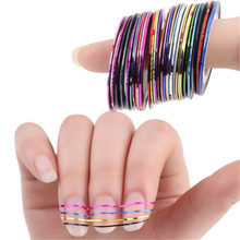 Fashion Pattern Women Nail Art Sticker Tools 10 18 30 Colors  Beauty Decorations for on Nail Stickers Rolls Striping Tape Line