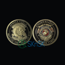 New U.S.Marine Corps Release The Dogs Of War Military Challenge Coin Medal 40*3 Coin For Souvenir American Coin Collections(China)
