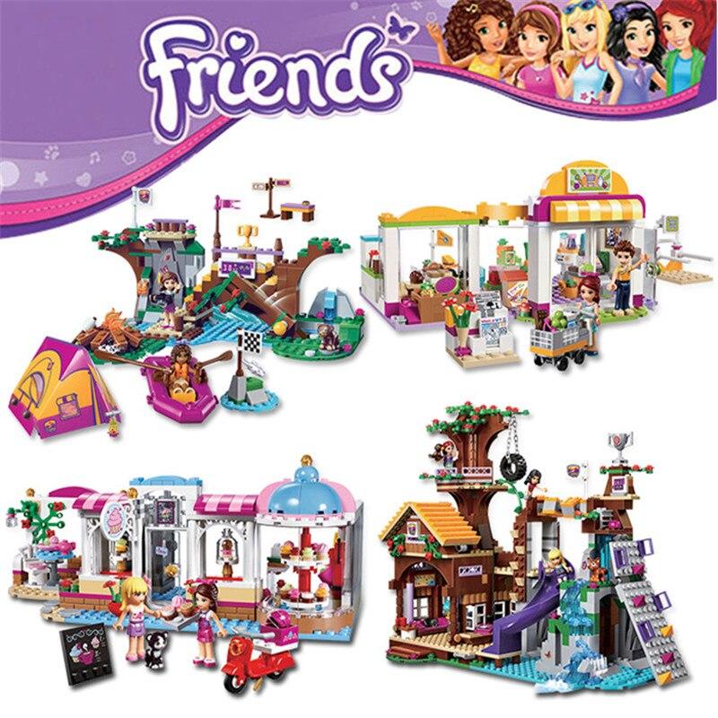 bela Girls Friends City Park Cafe Building Blocks Set figureblock  Bricks Toys Compatible with brand christmas 10493 10496 10497<br><br>Aliexpress