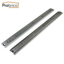 "Probrico 1 Pair 22"" Ball Bearing Slides Kitchen Furniture Drawer Rail DSHH30-22 Steel Full Extension Guides Glides Heavy Duty(China)"