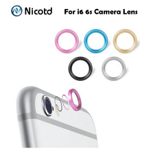"Jewelry Rear Camera Glass Metal Lens Protector Ring Guard Circle Case Cover For iphone 6 6s 4.7"" & plus 5.5"" with Retail Package"