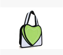 New Heart 2D Casual Bags!Novelty Casual Tote 3D Drawing Cartoon Comic Crossbody bag Lady Shoulder Bag Messenger 5 Color Gifts(China)