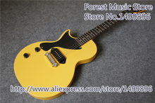 Hot Selling China TV Yollow Glossy Finish Lefty Simplicity LP Junior Guitars Electric For Sale