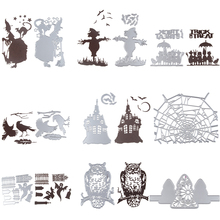 Aug New Design Halloween Holiday Hot Stencil Metal Cutting Dies Cut Practice Hands-on DIY Scrapbooking Album Craft dies Tool
