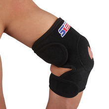 Free Shipping  SX605 Adjustable Ventilate Elastic Sport Elbow Guard Protector - Black