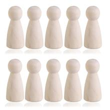 Peg Dolls Of Women(6cm 10pc)Unfinished Wood Weddings Cake Dolls Home Room Bookshelf Decor Kids Toys Birthday Gifts DIY Crafts