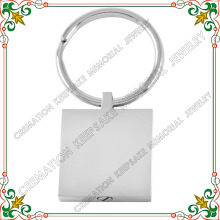 CMK2014 Square shape stainless steel key chain memorial cremation jewelry for ashes(China)