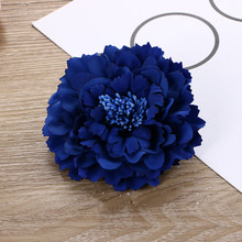 High Grade Fabric Peony Hairpins Flowers Bohemia Women Beach Holiday Headwear Clips Cute Hair Barrettes Headband Hair Clip F0162