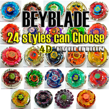 24 style 1pcs Beyblade Metal Fusion 4D BB- Without Launcher Fighting gyro Spinning Top Christmas Gift For Kids Toys F4(China)