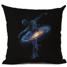 New Style Virtual Starry Sky Cotton Linen Pillow Home Cushions Cover Home Office Square Cat Pillow Case Capa De Almofadas(China)