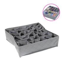 Cell Bamboo Charcoal Underwear Bar Ties Socks Drawer Closet Organizer Storage Box