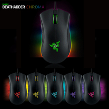 Original Razer Deathadder Chroma Mice Wired USB Gaming Mouse 10,000dpi Optical Sensor Right Hand + mice bag Without Retail Box