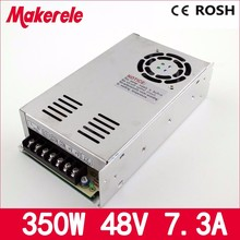 MS-350-48 ac-dc single output 7.3a 350w 48vdc switching power supply smps mini size with CE certification