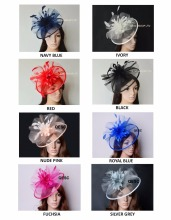 EMS free shipping.New Big Sinamay Crin Fascinator w/feather flowers for Melbourne cup,Wedding,Races,Kentucky Derby,party,church(China)