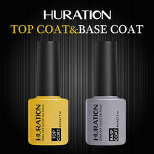 Huration Gel Polish semi-permanent Base Coat And Top Coat Nail Art UV Gel Cuticle Oil In Professional Set Gel