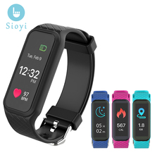 """Factory Sales"" SIOYI L38I Smart Bracelet BT4.0 Heart Rate Monitor 2017 Pulse Monitor Smartbands Pedometer Sports Fitness Band"