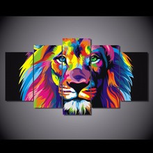 HD Printed colorful lion Painting on canvas room decoration print poster picture canvas unframed