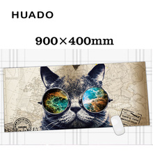 Cat Rubber Gaming Mouse Pad Mat Customizable Mouse pad Large Size 900*400mm for game & office work(China)