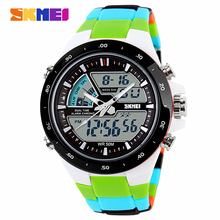 Wholesale Watches men luxury brand LED Watch Skmei quartz Digital men Students sport wristwatches Casual watch relogio masculino(China)