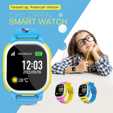 Tencent QQ American Edition Smart Baby Watch Children Smart Watch GPS Watch Kids Smartwatch Cam SIM LBS WiFi SOS for Android IOS