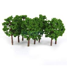 New Arrivals 2015 Plastic Model Tress Train Railroad Scenery 1:150 20pcs Dark Green Free Shipping