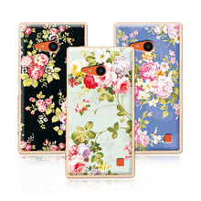 2016 Luxury Floral Painted Case For Nokia lumia 735 730 Case Art printed Flower Cell Phone Case For Nokia lumia 730 Cover+Gift