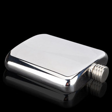 1 pc  6oz classics ( Pure hand-made )stainless steel  pocket hip flask,Alcohol Flask with high quality mirror face  free funnel