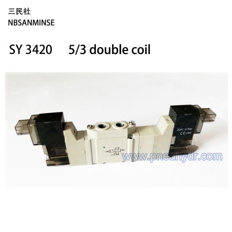 SY3420 Series Exhaust center Solenoid Valve M5 AC220V High quality Ningbo Sanmin (NBSANMINSE) Mini Valve  SMC Solenoid Valve<br><br>Aliexpress