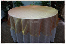 180cm Round NO.30 Orange Color Organza Table Overlay/Table Cover/Tablecloth For Wedding Party Home Hotel Banquet Decorations