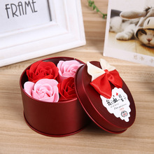 2 pcs/lot 7.5CM Valentine's Day Rose Flower Soap Love Creative Wedding Gift(China)