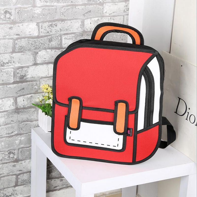 3D Anime Bag Cartoon Women Men Backpack School Bag 3D Style Canvas 2D Travel Drawing Book Mochila For teenagers<br><br>Aliexpress