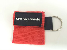 2pcs Keychain CPR mask  6 Color CPR Resuscitator Mask Keychain Emergency Face Shield First Aid CPR Mask For Health Care Tools